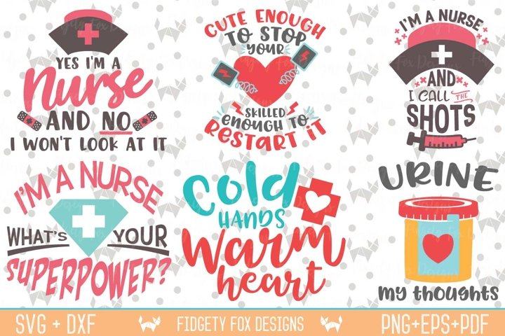 Nurse Svg Bundle, Nursing Bundle, Svg Dxf Eps Pdf Png Cutting files for Silhouette cameo and cricut