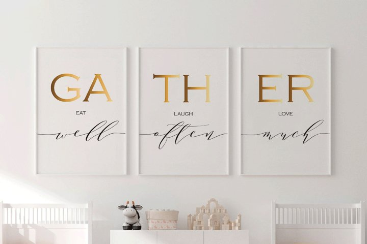 Eat Well Laugh Often Love Much Kitchen Wall Decor, Gather