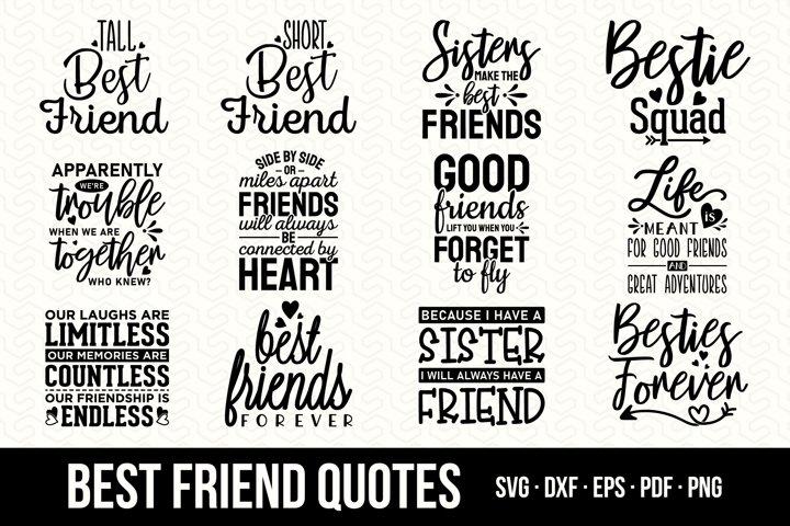 Best Friend SVG Bundle, Funny Best Friend Quotes Bundle