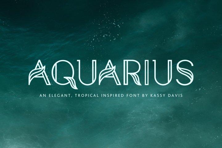 Aquarius - A Tropical & Elegant Font Family