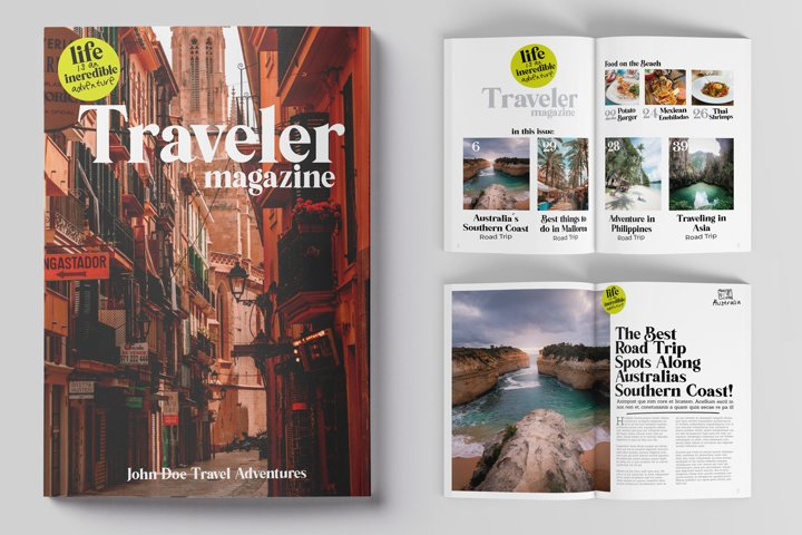 Traveler Magazine Indesign Template