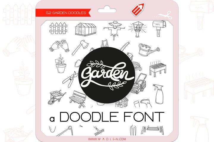 Garden Doodles - Dingbats Font