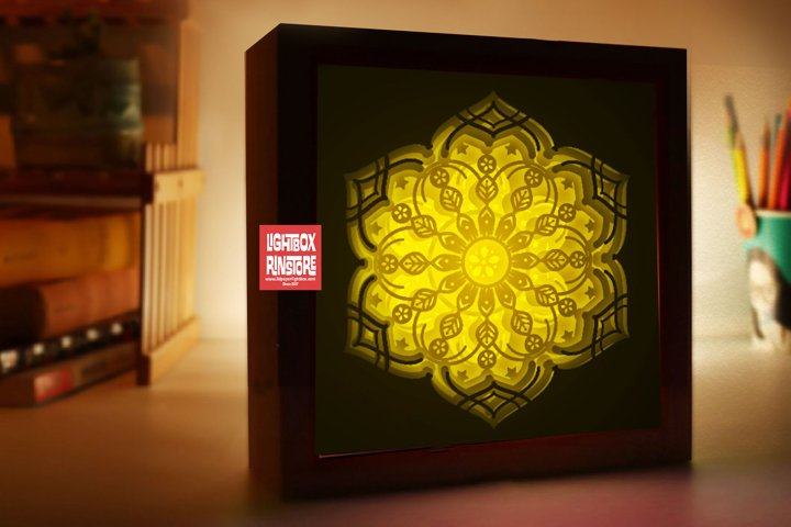 #181 Mandala Home decoration, 3d paper lightbox - resizeable