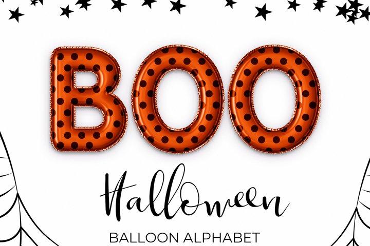 Halloween Party Clipart-Balloon Alphabet For Halloween