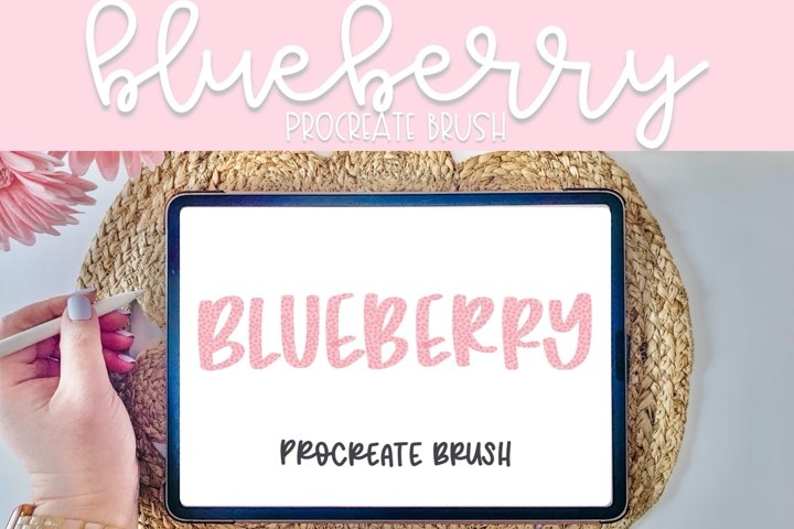 Blueberry Procreate Brush | Procreate