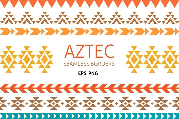 Native America AZTEC Border, seamless borders clipart, PNG