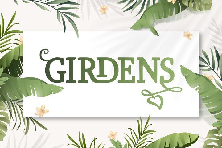 Girdens - Decorative Serif Font