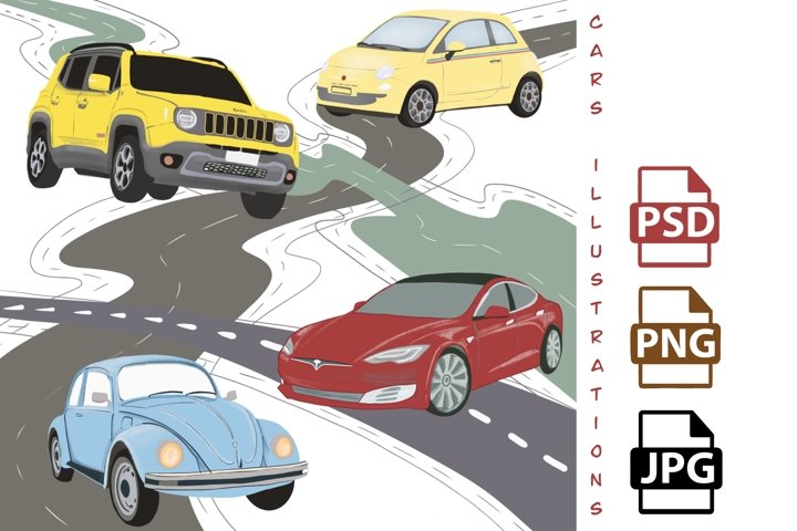 Car clipart, vehicle clipart with cars