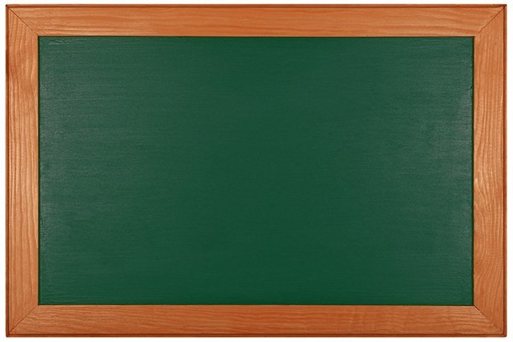 Green School Chalkboard Isolated on White