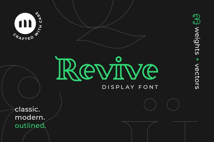Revive Display Font