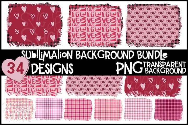 Sublimation Background Bundle, PNG