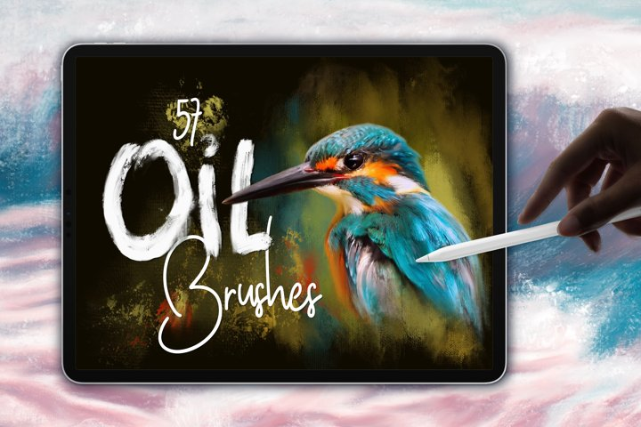 Oil Brushes for Procreate App