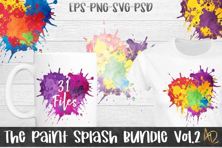 Paint Splash Background Bundle for Sublimation vol.2 png eps