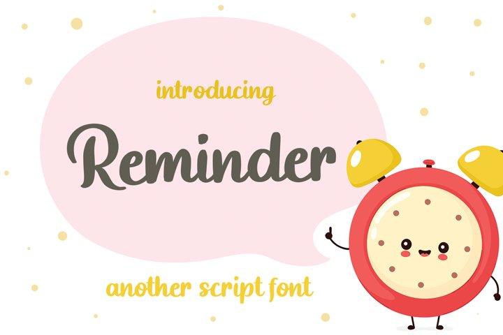 Reminder - Fun Handwritten Font