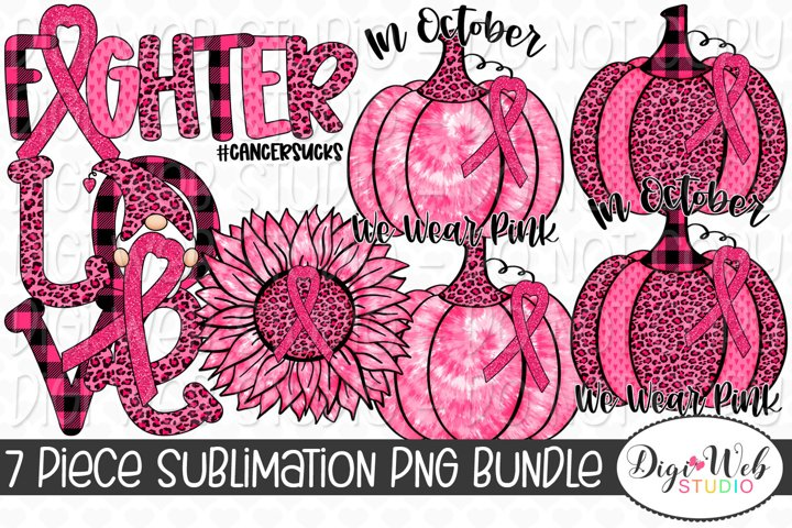 Sublimation Bundle - Pink Ribbon Breast Cancer Awareness