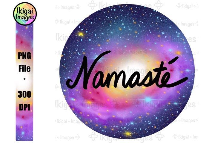 Namaste Word Art, Galaxy Background, Spiritual Universe Art