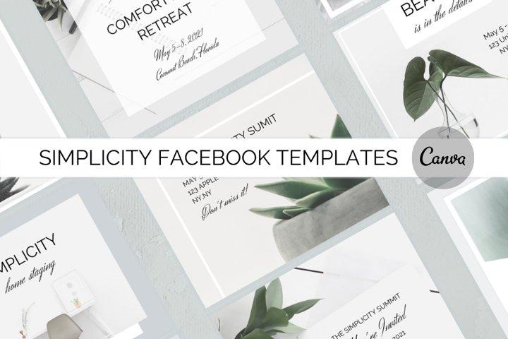 Simplicity Facebook Templates