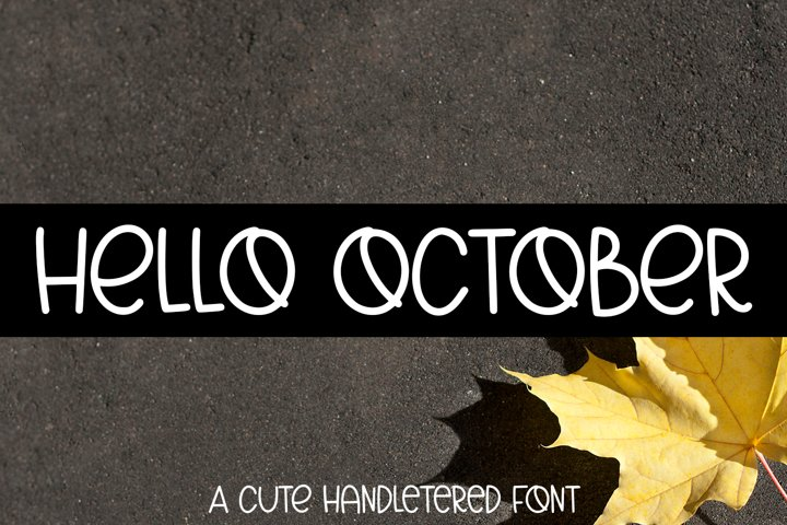 Hello October - A Cute Hand-Lettered Fall Font