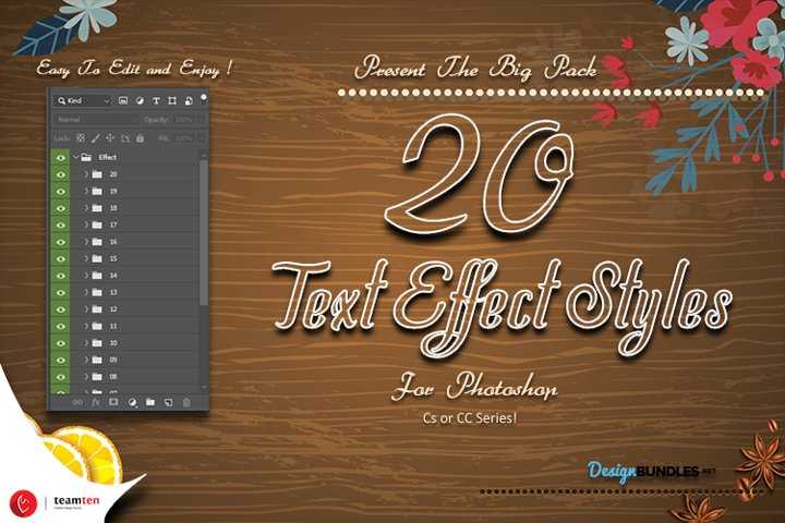 Mega 20 Effect Styles Photoshop
