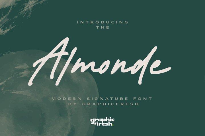 Almonde - Modern Signature Font