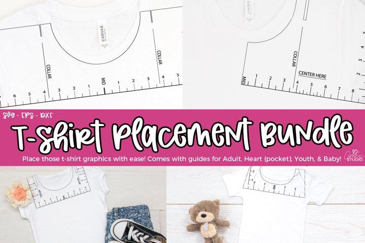 T-Shirt Placement SVG - T-Shirt Guide Bundle