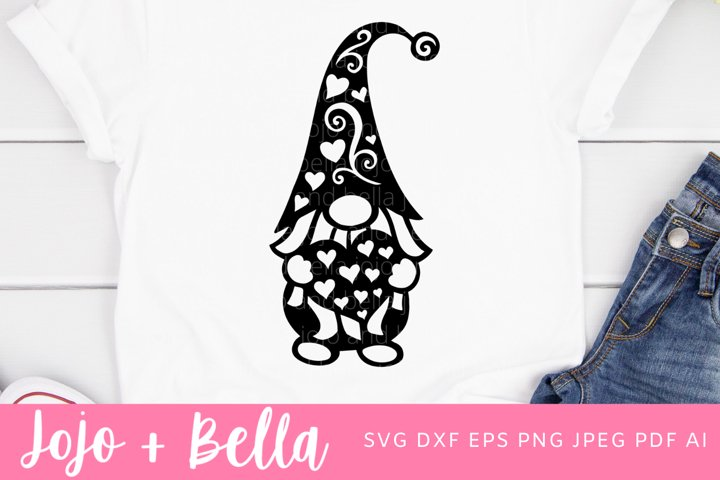 Gnome Svg | Mandala Gnome Svg | Valentines Day Svg