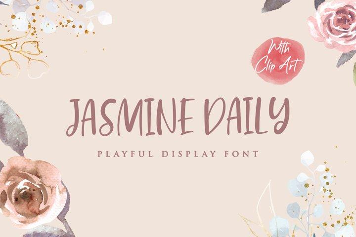 Jasmine Daily - Playful Display Font