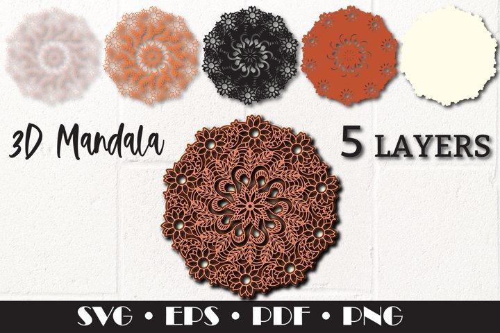 3D layered Mandala