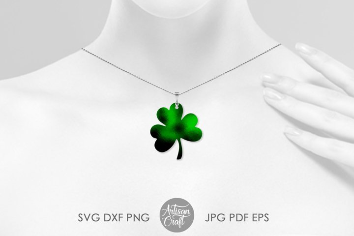 Clover earrings, St Patrick's day earrings, SVG cut file example 1