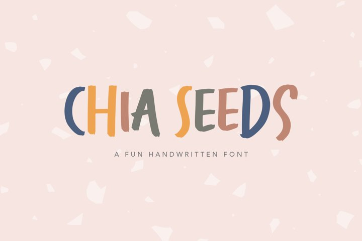 Chia Seeds - Fun Handwritten Font