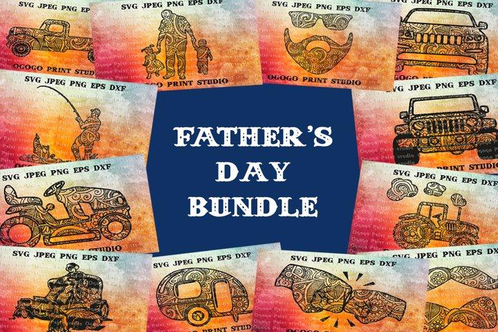 Fathers day BUNDLE, Mandala svg, Zentangle Svg, Boho svg