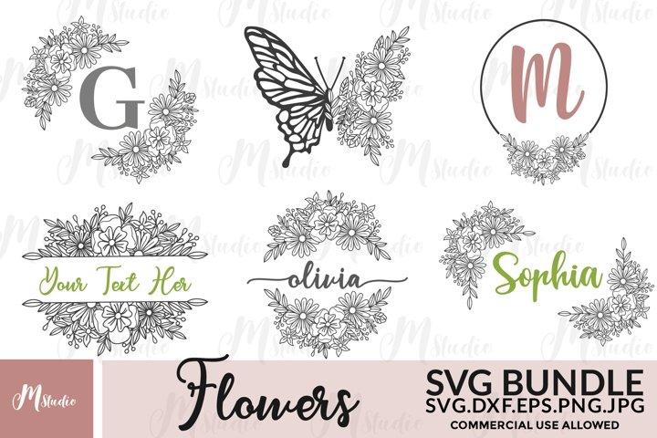 Flowers SVG Bundle. S5