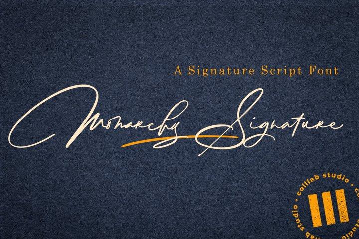 Monarchy Signature - A Signature Script Font