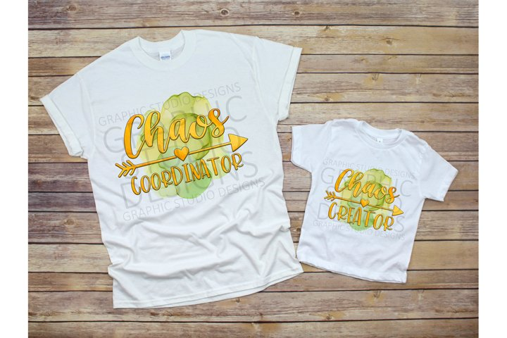 Chaos Coordinator Creator Mommy & Me PNG Sublimation Design