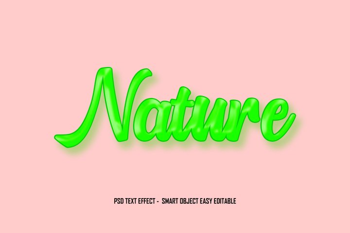 Nature Green PSD Text Effect Smart