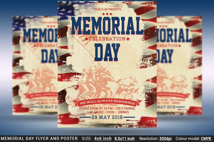 Memorial Day Flyer And Poster