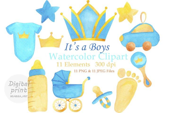 Baby boy watercolor clipart Little boy png Watercolor boy