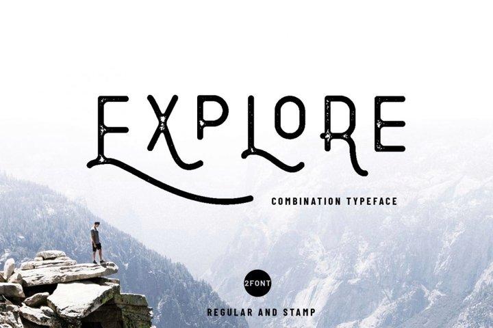 Explore - Combination Typeface