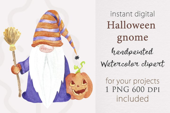 Halloween gnome, watercolor gnome, sublimation gnome png