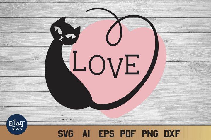 Valentines SVG | Cat Love SVG | Heart Print Design