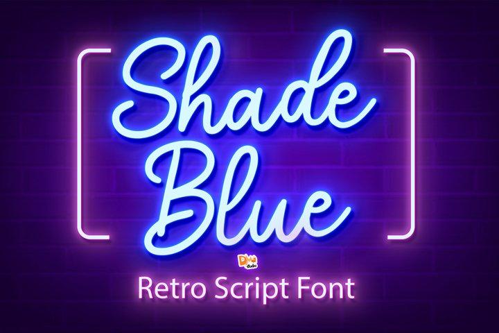 Shade Blue - Retro Script Font