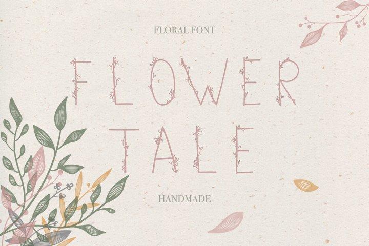 Flower Tale - Handwritten Floral Font