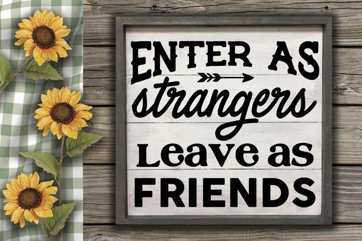 Enter As Strangers SVG