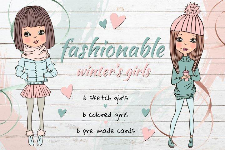 Fashionable winters girls