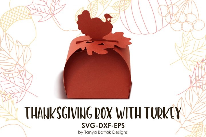 Thanksgiving Favor Box with Turkey