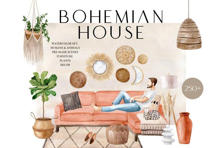 Bohemian House Watercolor set