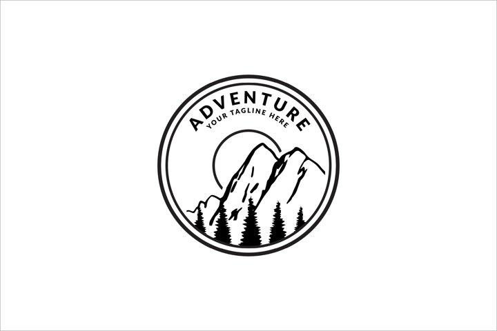 vintage badge design adventure logo