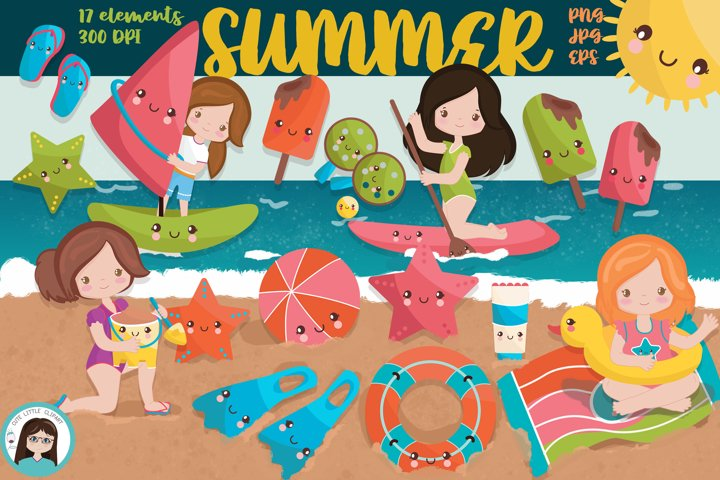 Summer character clipart