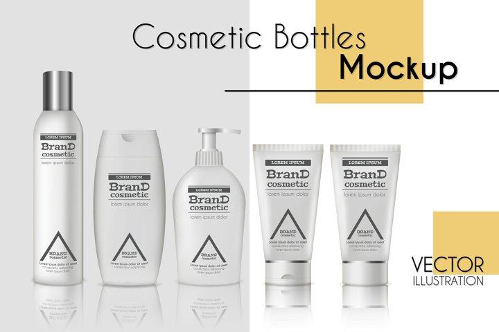 Vector realistic bottles set collection mockup pt.1