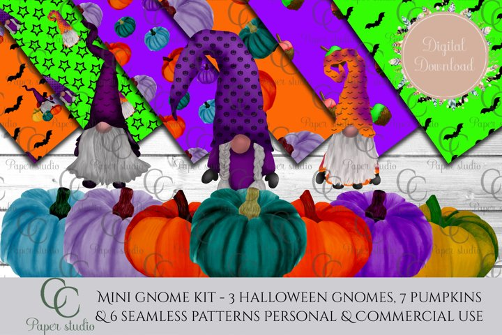 Halloween Gnome - mini scrapbook bundle